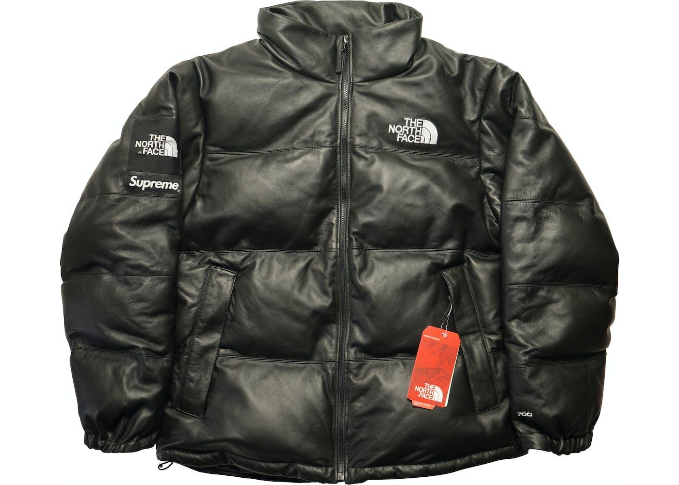 supreme the north face leather nuptse jacket black. Black Bedroom Furniture Sets. Home Design Ideas