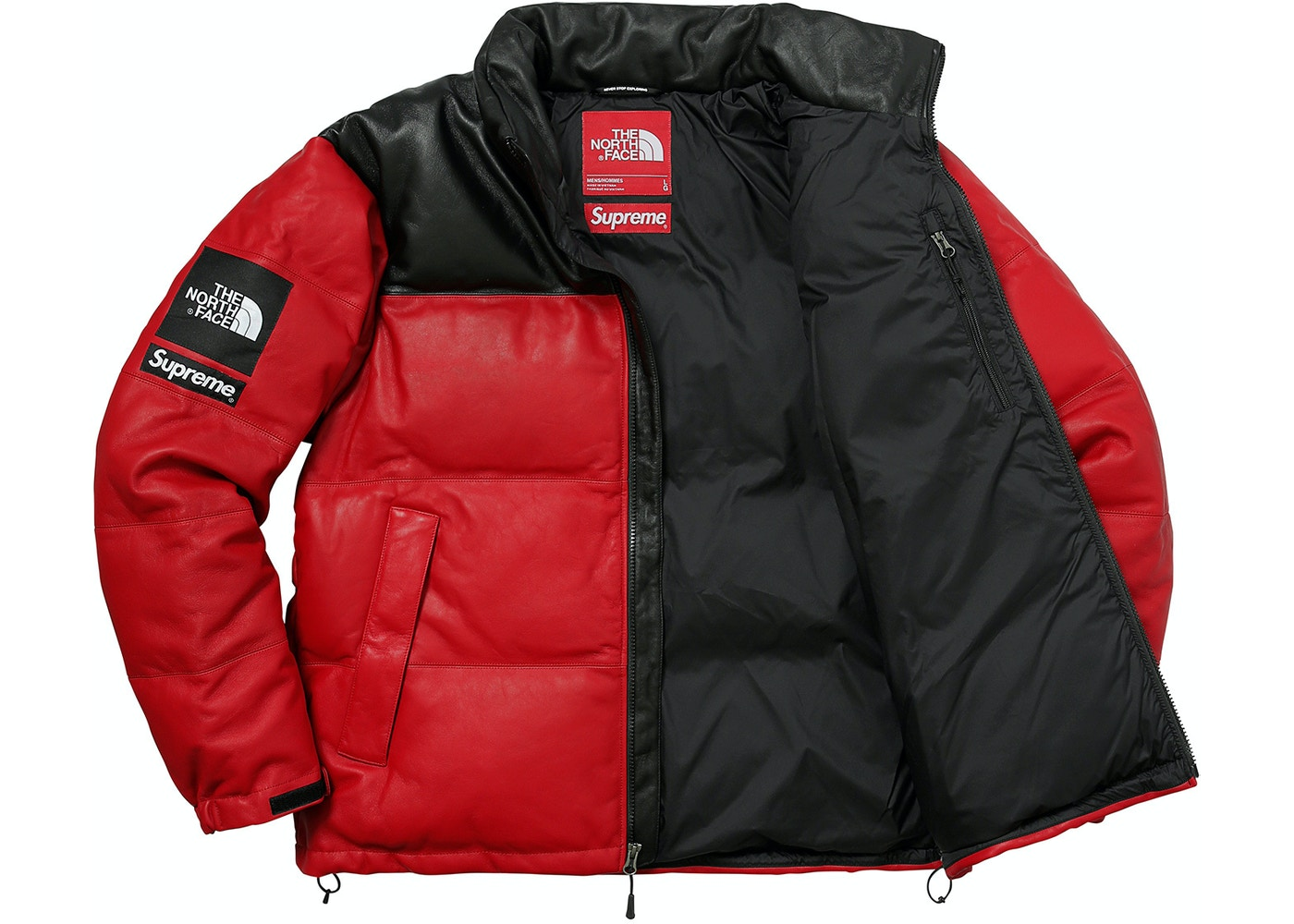 Supreme the north face leather nuptse jacket red gumiabroncs Gallery
