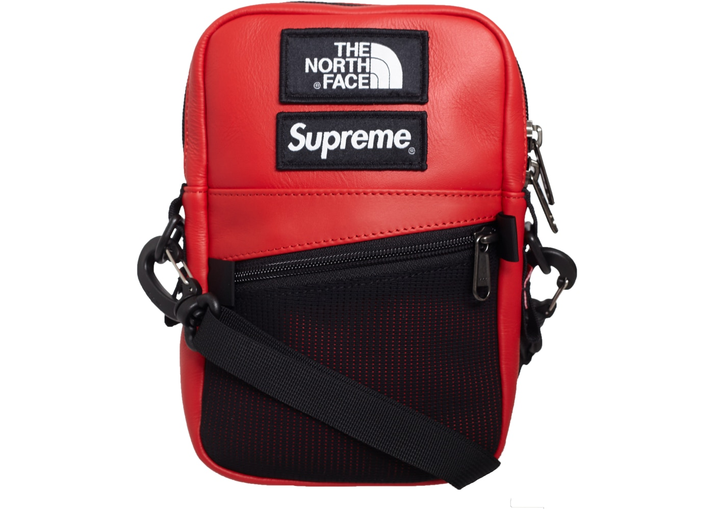 Supreme The North Face Leather Shoulder Bag Red - FW18 8a28d9824