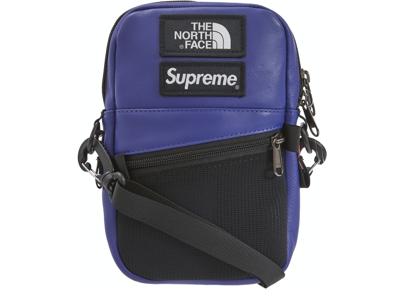 39682a202 Supreme The North Face Leather Shoulder Bag Royal