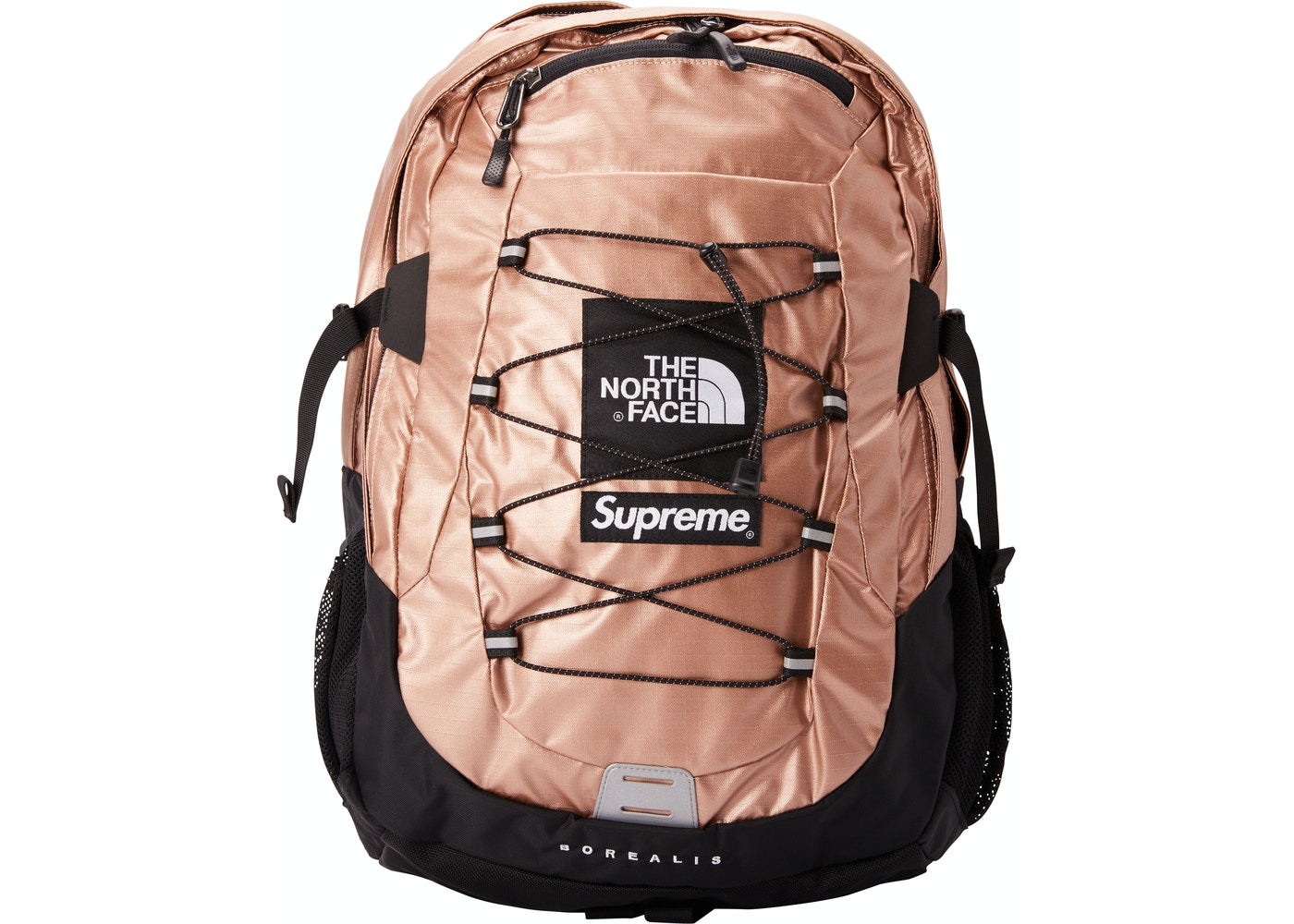 c0fc962ee Supreme The North Face Metallic Borealis Backpack Rose Gold