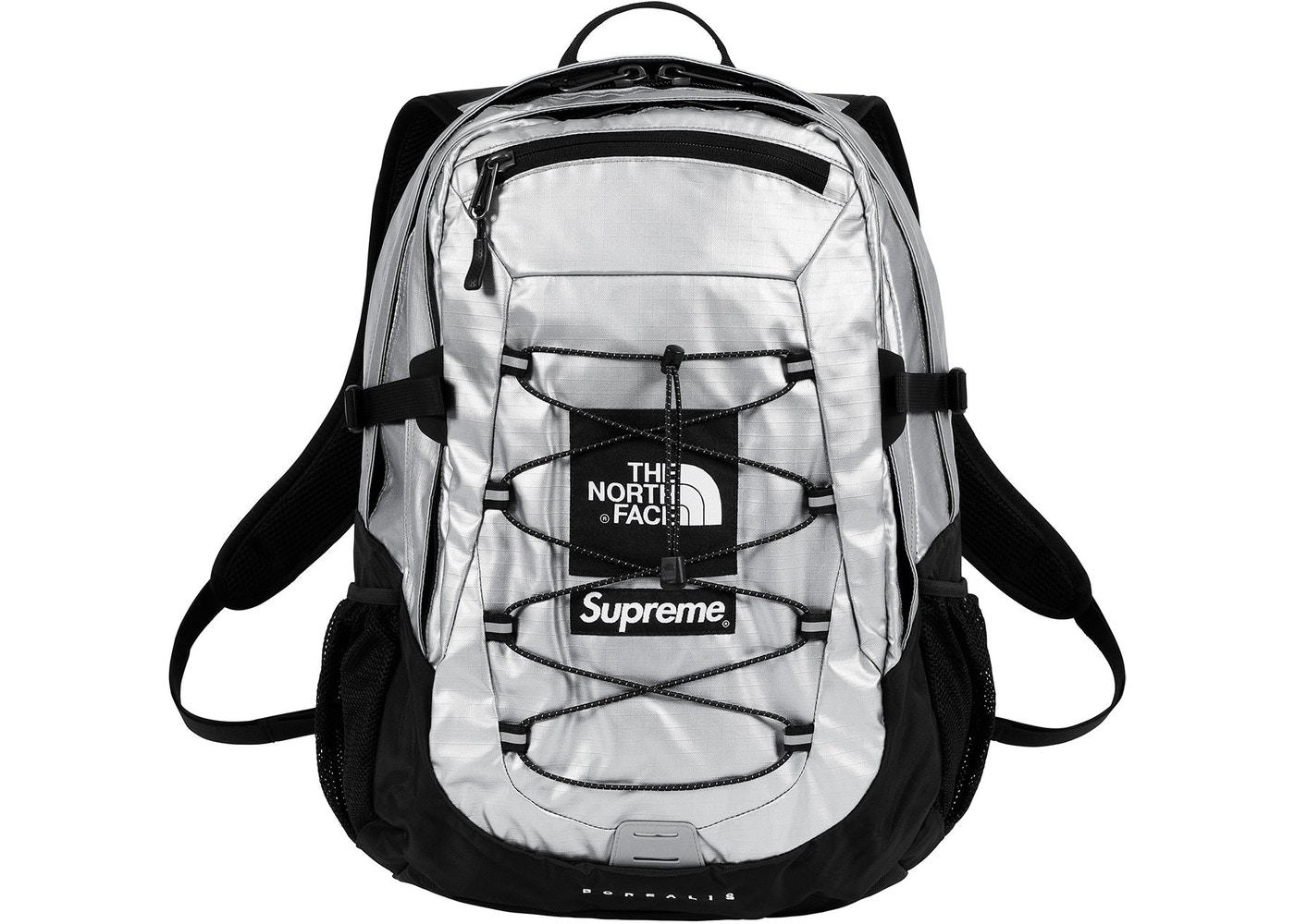 ee8f53485a1 Sell. or Ask. View All Bids. Supreme The North Face Metallic Borealis  Backpack Silver