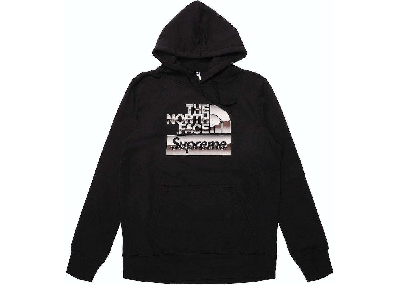 Supreme The North Face Metallic Logo Hooded Sweatshirt Black