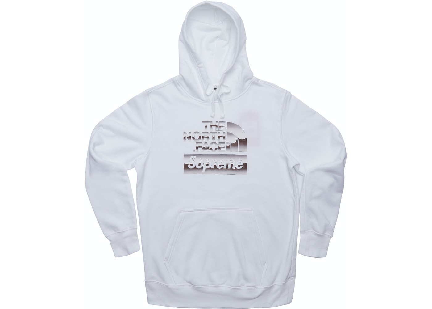 Supreme The North Face Metallic Logo Hooded Sweatshirt White Ss18