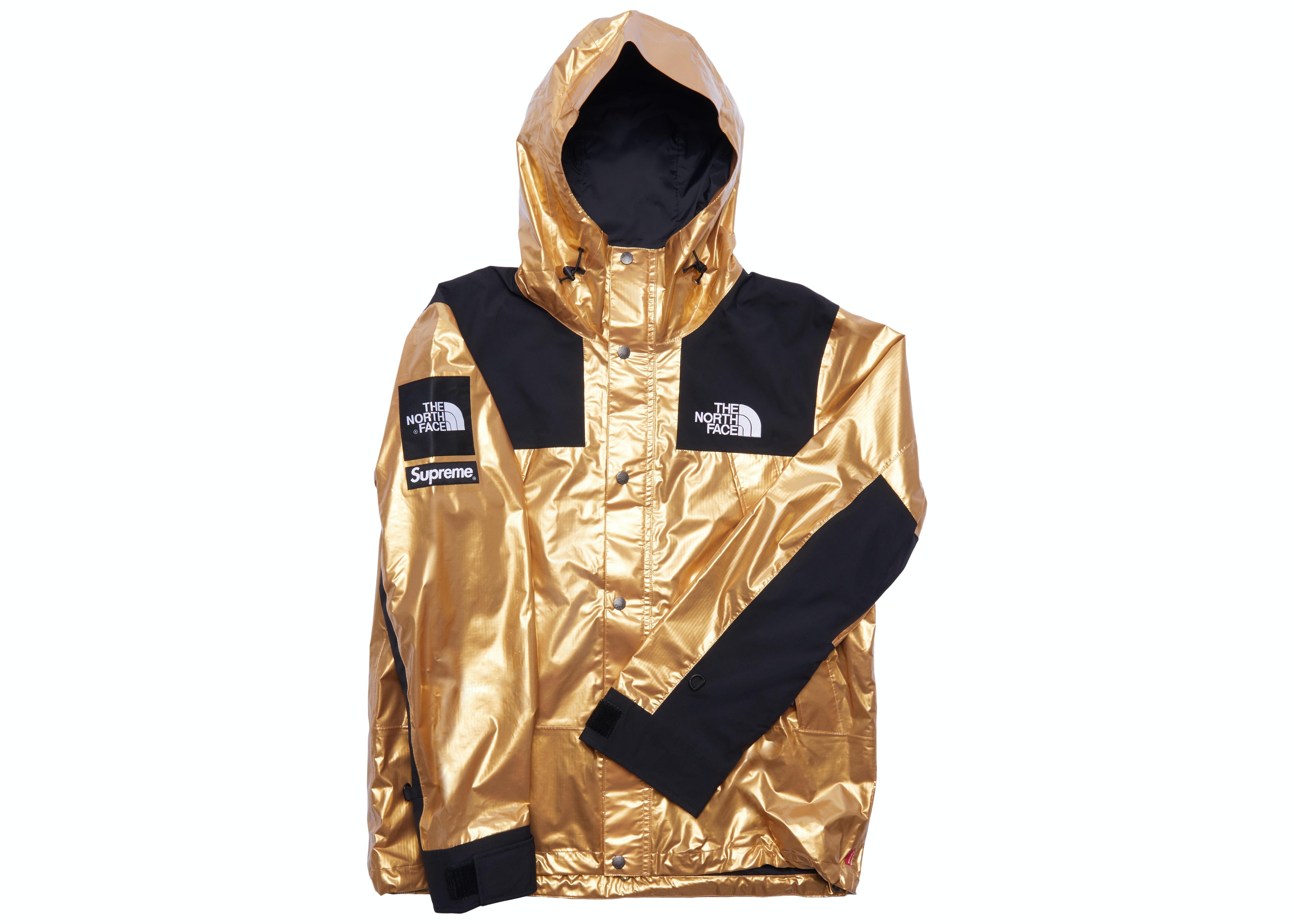 Supreme The North Face Metallic Mountain Parka Gold Ss18