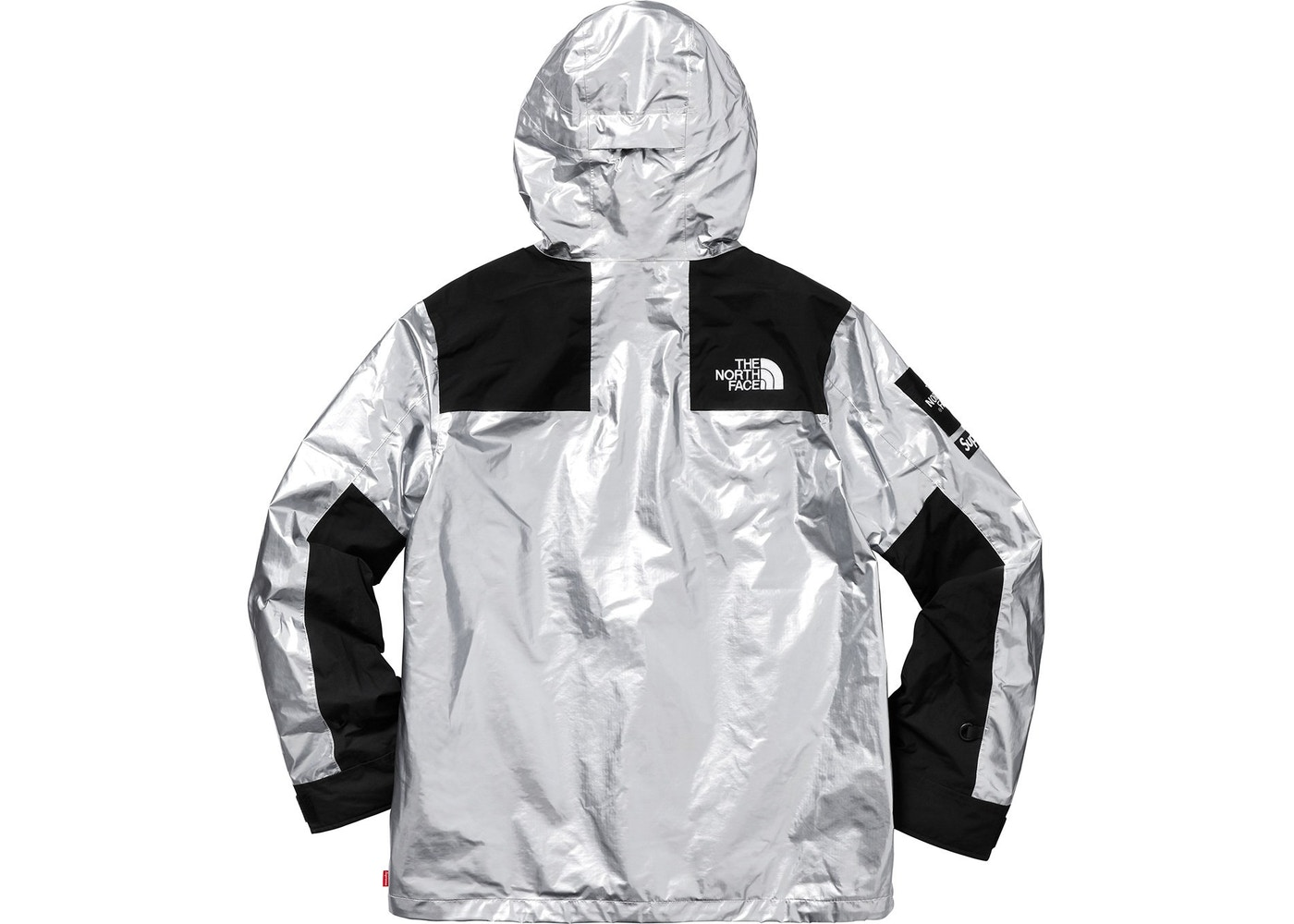 828e2b840 ReStockX Supreme the North Face Metallic Mountain Parka Silver -