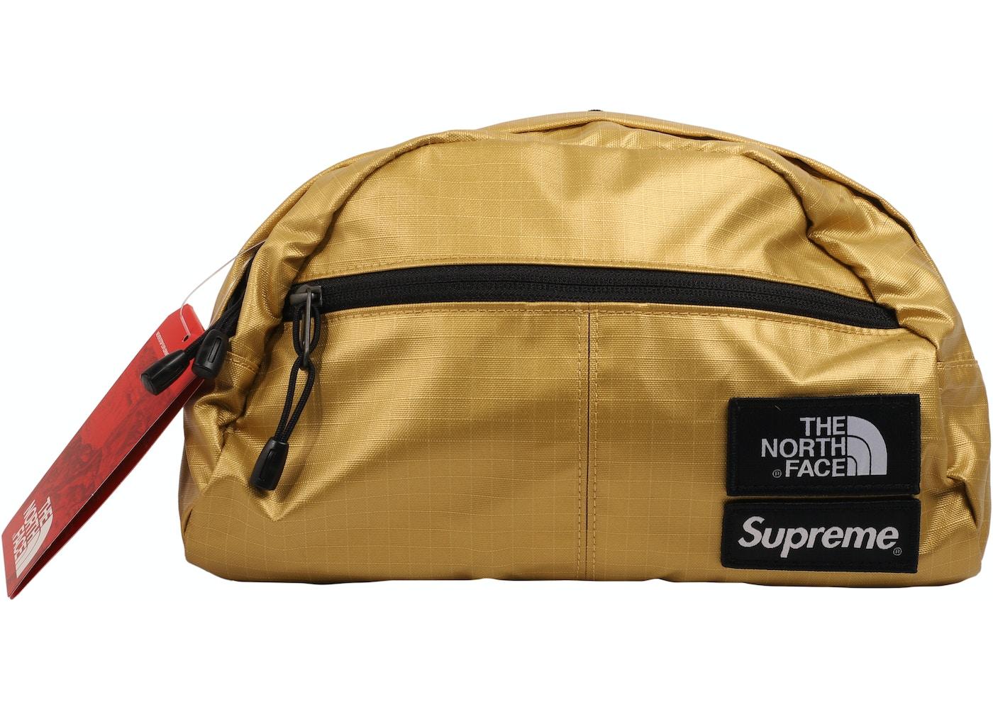 3d682fea7 Supreme The North Face Metallic Roo II Lumbar Pack Gold
