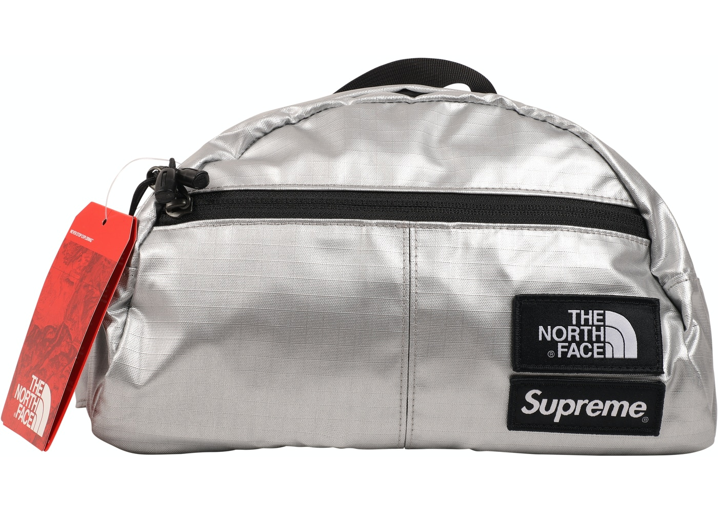 5242559fc Supreme The North Face Metallic Roo II Lumbar Pack Silver