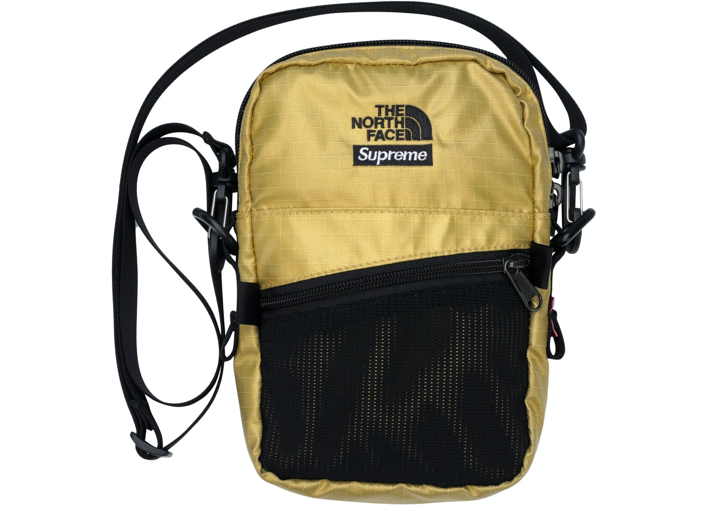 95ef127a297 HypeAnalyzer · Supreme The North Face Metallic Shoulder Bag Gold