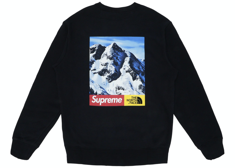 Supreme The North Face Mountain Crewneck Sweatshirt Black