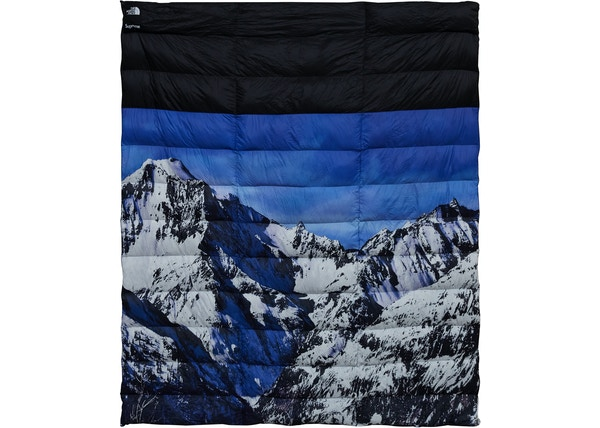 03d401f8c Supreme The North Face Mountain Nupste Blanket Blue/White - TNF-MTN-FW17