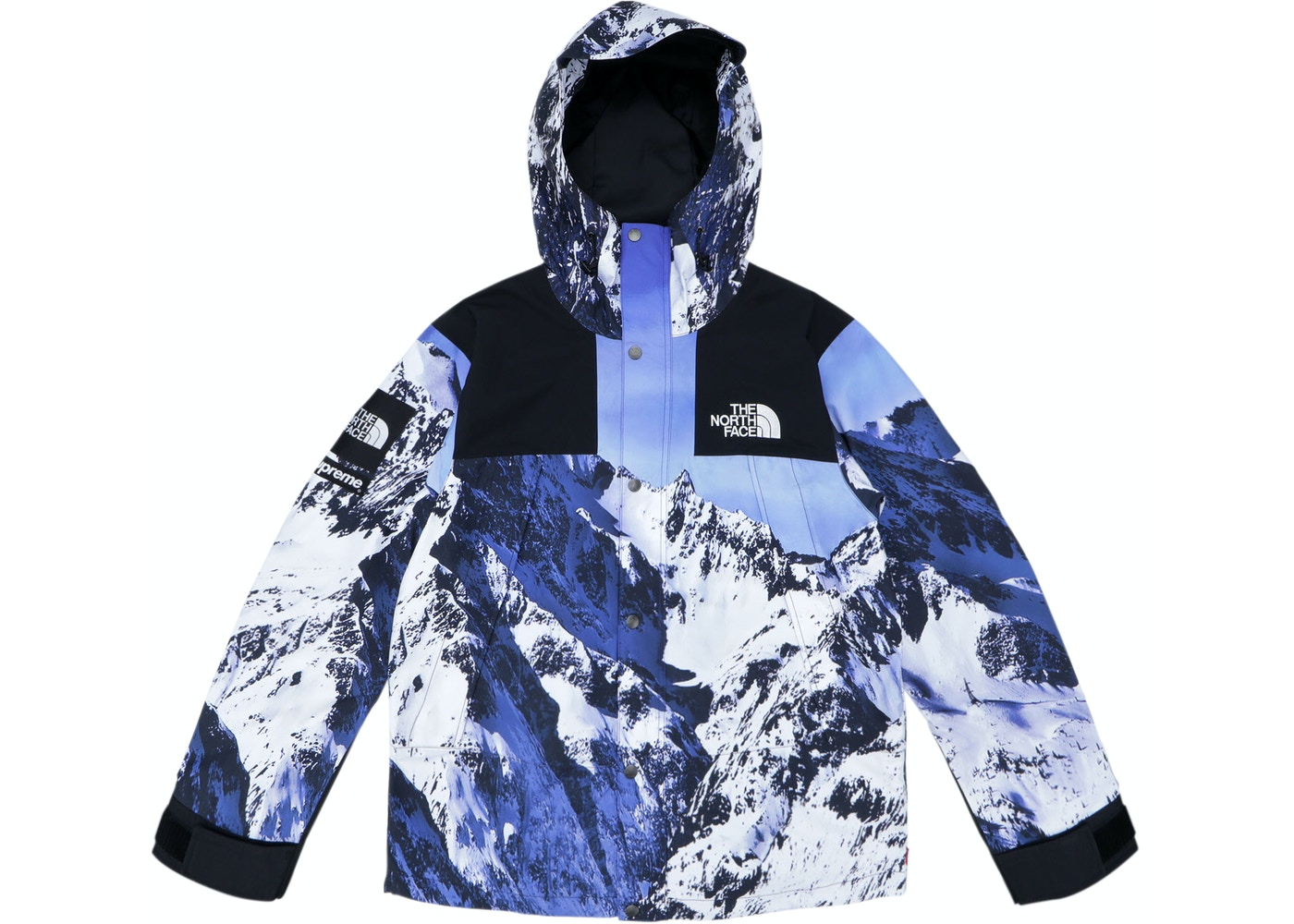 Supreme The North Face Mountain Parka Blue White - TNF-MTN-FW17 ed2e28b70