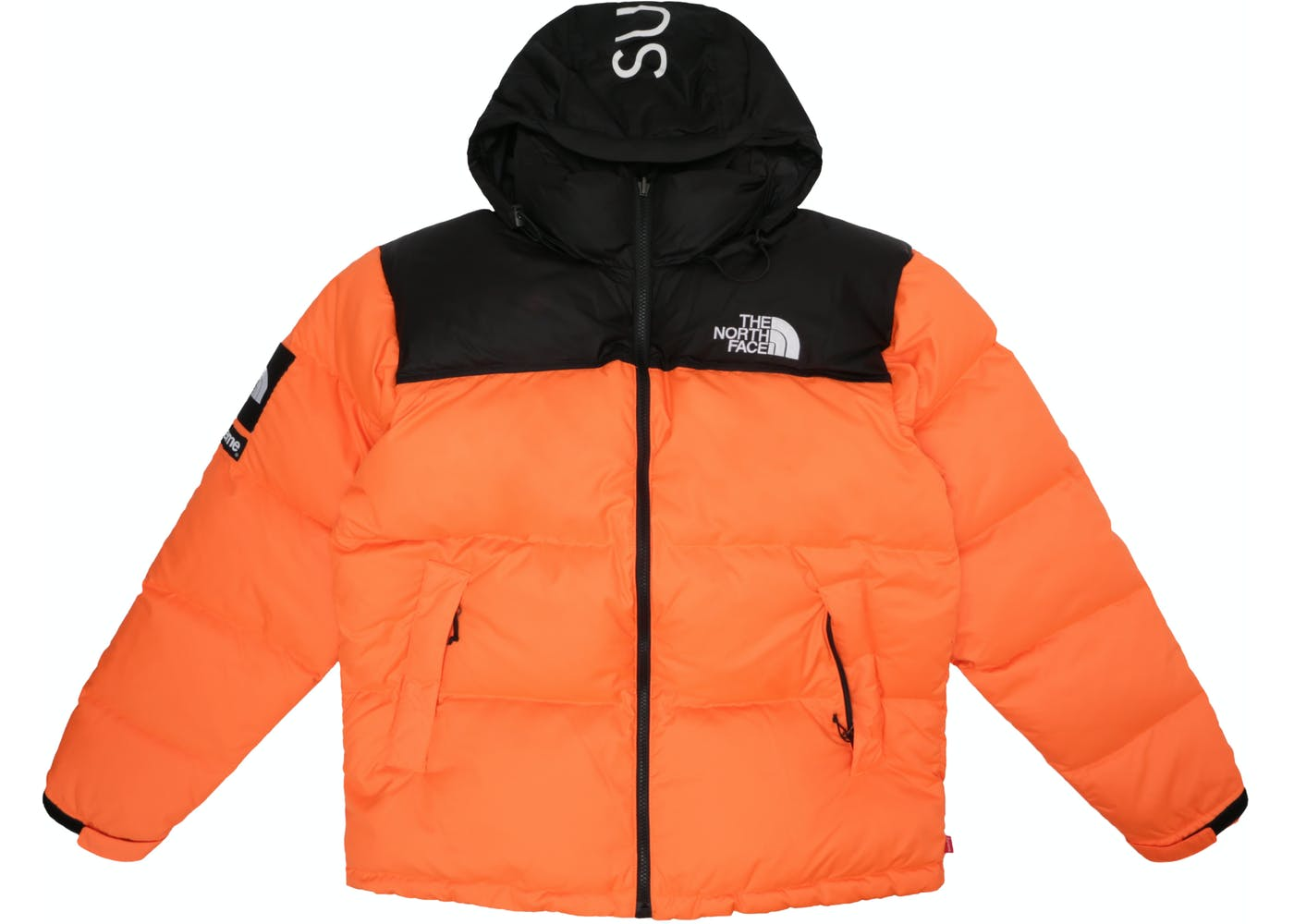 supreme the north face nuptse orange. Black Bedroom Furniture Sets. Home Design Ideas