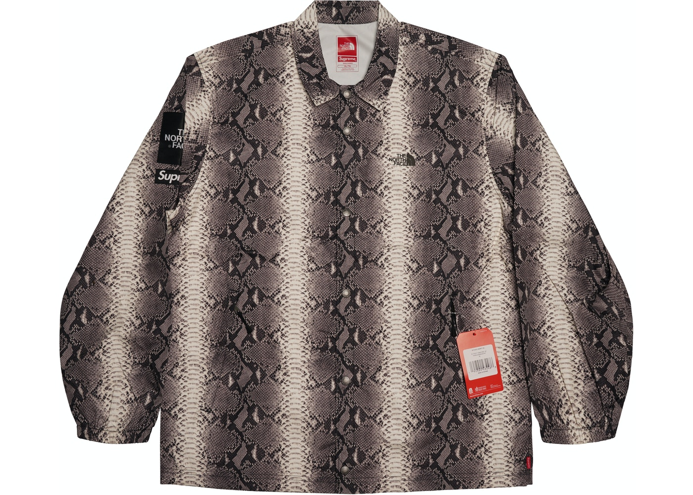 a8a91e5ff40198 Supreme The North Face Snakeskin Taped Seam Coaches Jacket Black - SS18