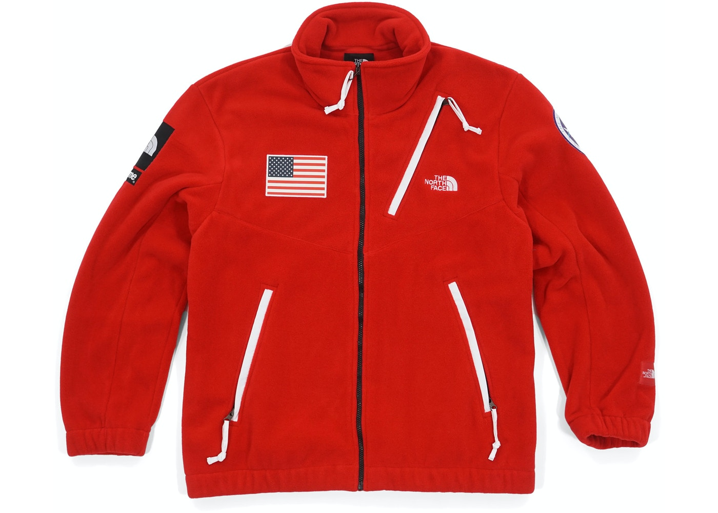 dce47fd62 Supreme The North Face Trans Antarctica Expedition Fleece Jacket Red