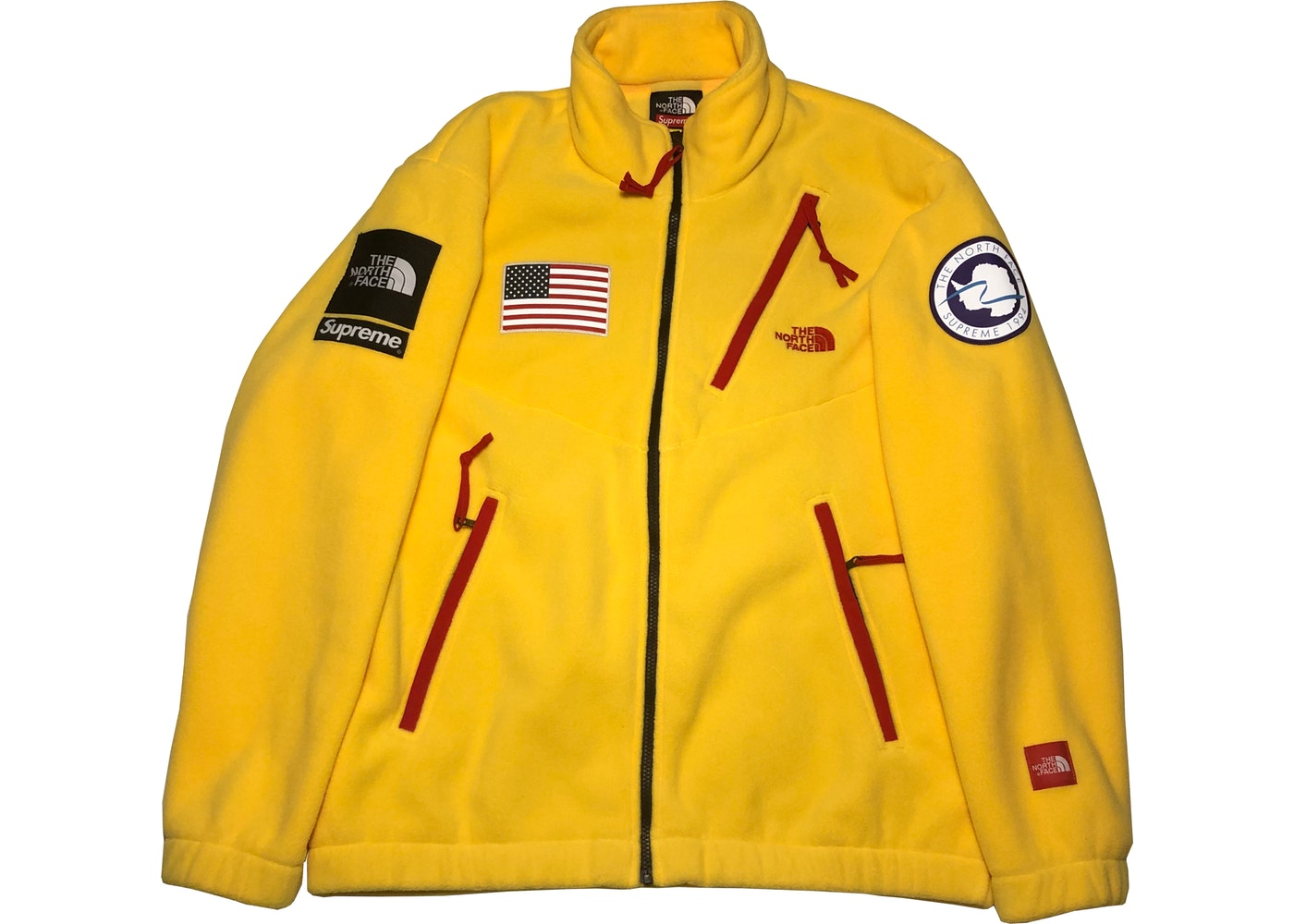 529783f35 Supreme The North Face Trans Antarctica Expedition Fleece Jacket Yellow