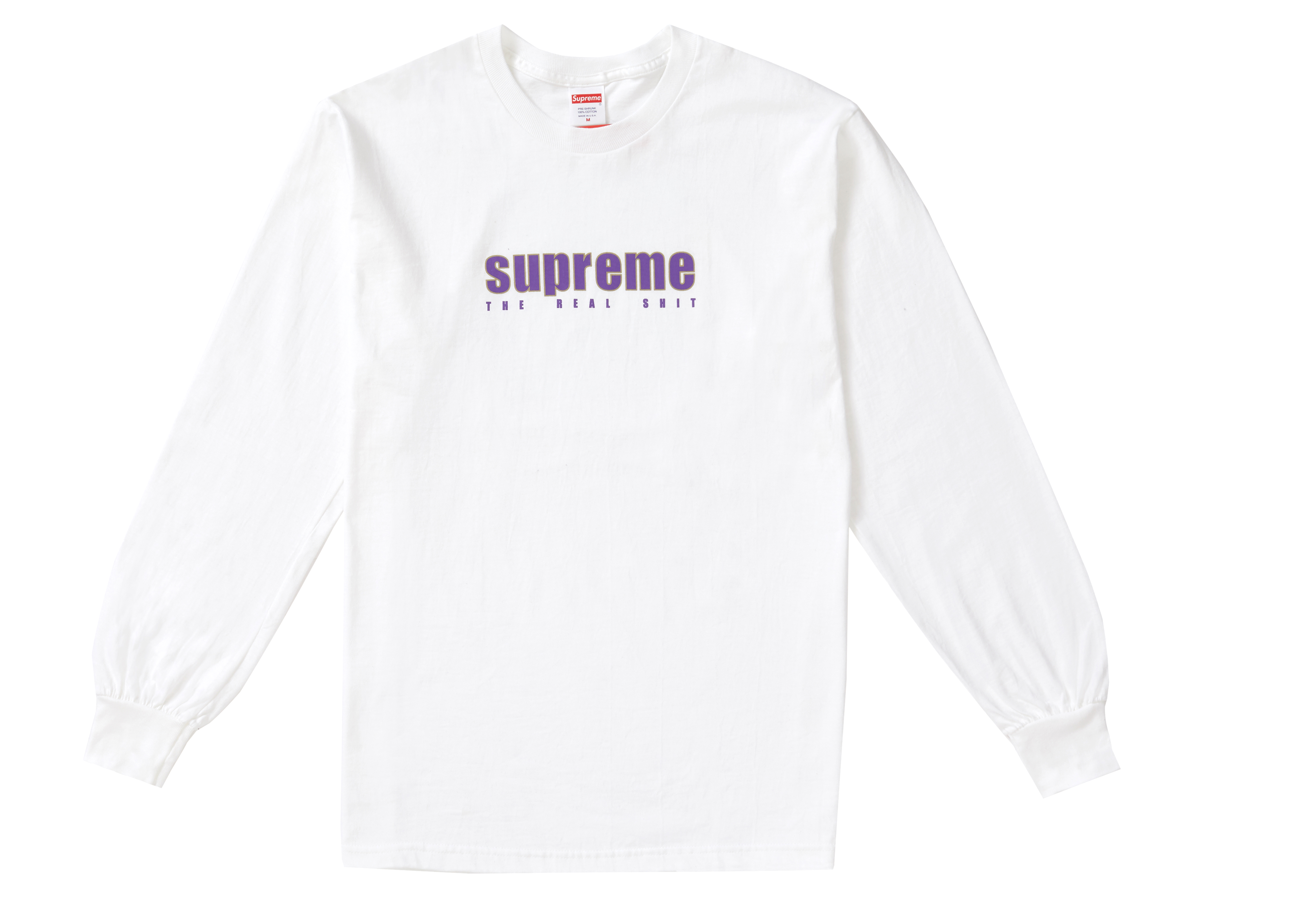 real white supreme shirt