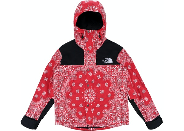 91453fbe60 Supreme The North Face Bandana Mountain Jacket Red