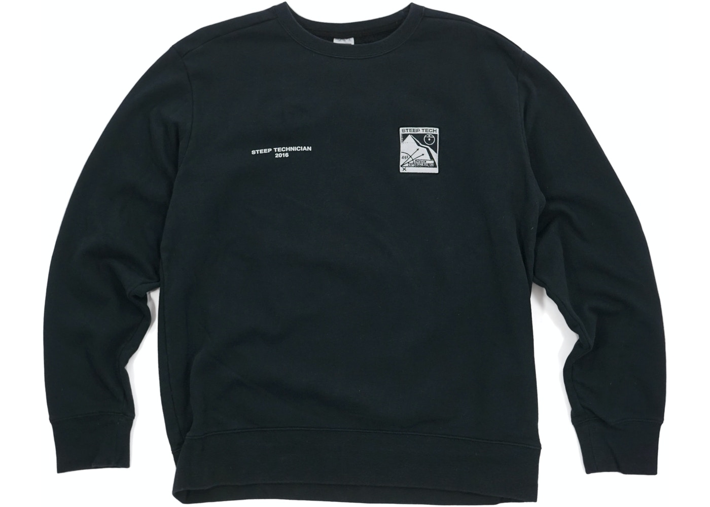 Supreme The North Face Steep Tech Crewneck Black