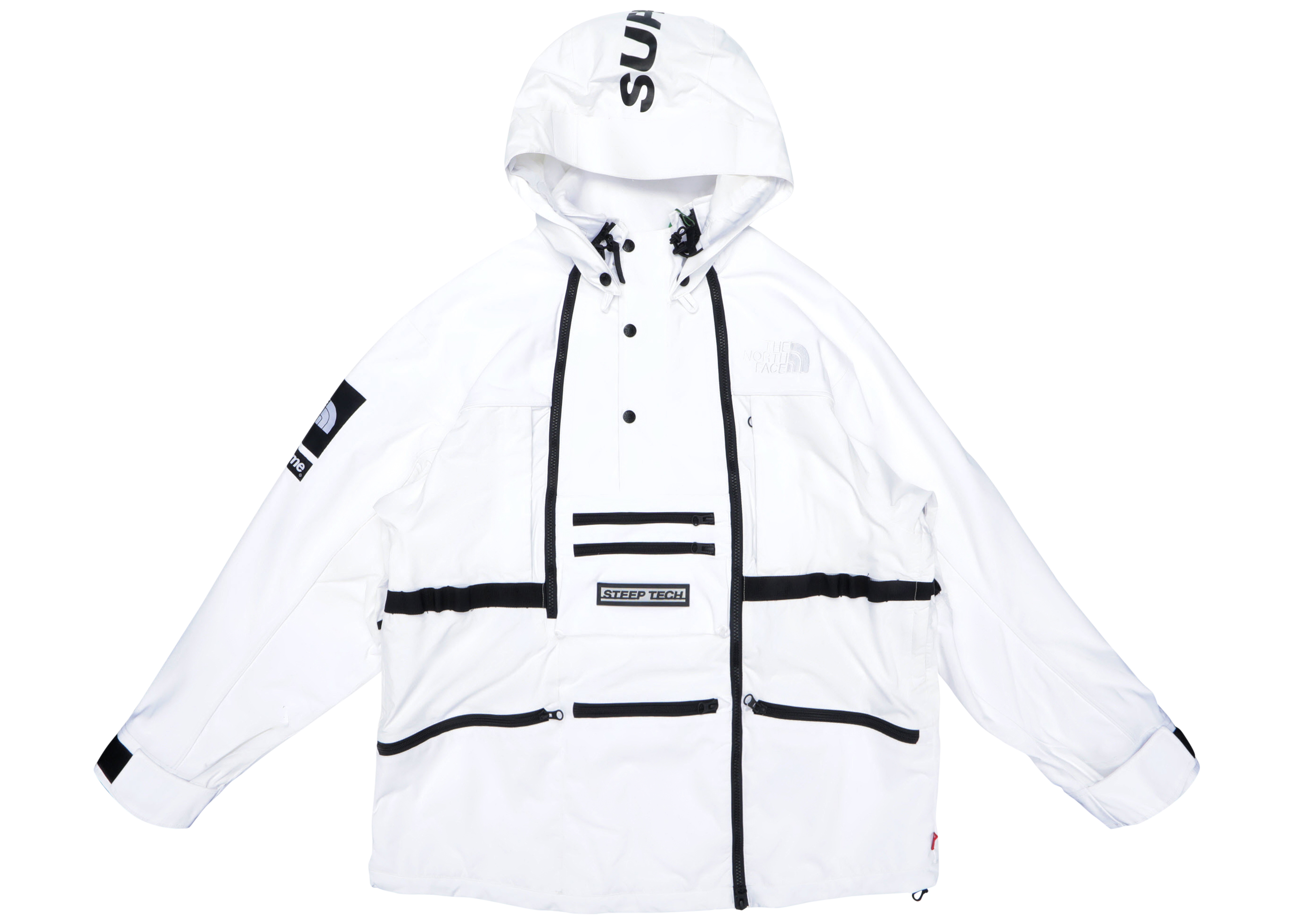 Supreme The North Face Steep Tech Hooded Jacket White