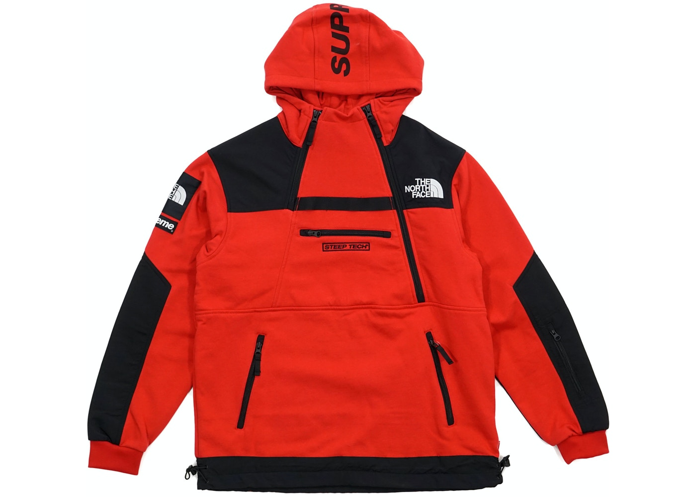 2e1142e9f Supreme The North Face Steep Tech Hooded Sweatshirt Red
