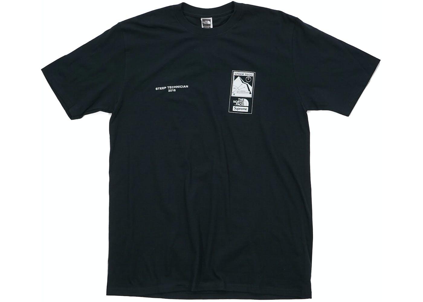 Black t shirt supreme - Supreme The North Face Steep Tech T Shirt Black