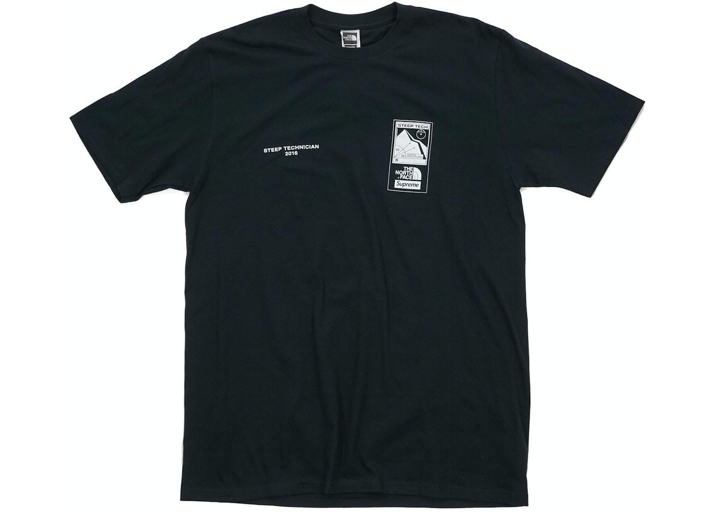 Supreme The North Face Steep Tech T Shirt Black - SS16 9c536992b98b