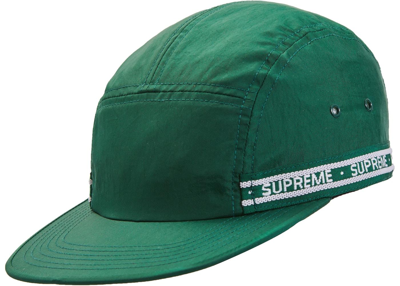 Sell. or Ask. View All Bids. Supreme Tonal Tape Camp Cap Dark Green 56a28cd6c365