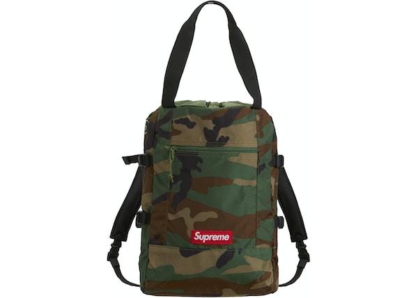 e07dedfdeef Supreme Tote Backpack Woodland Camo