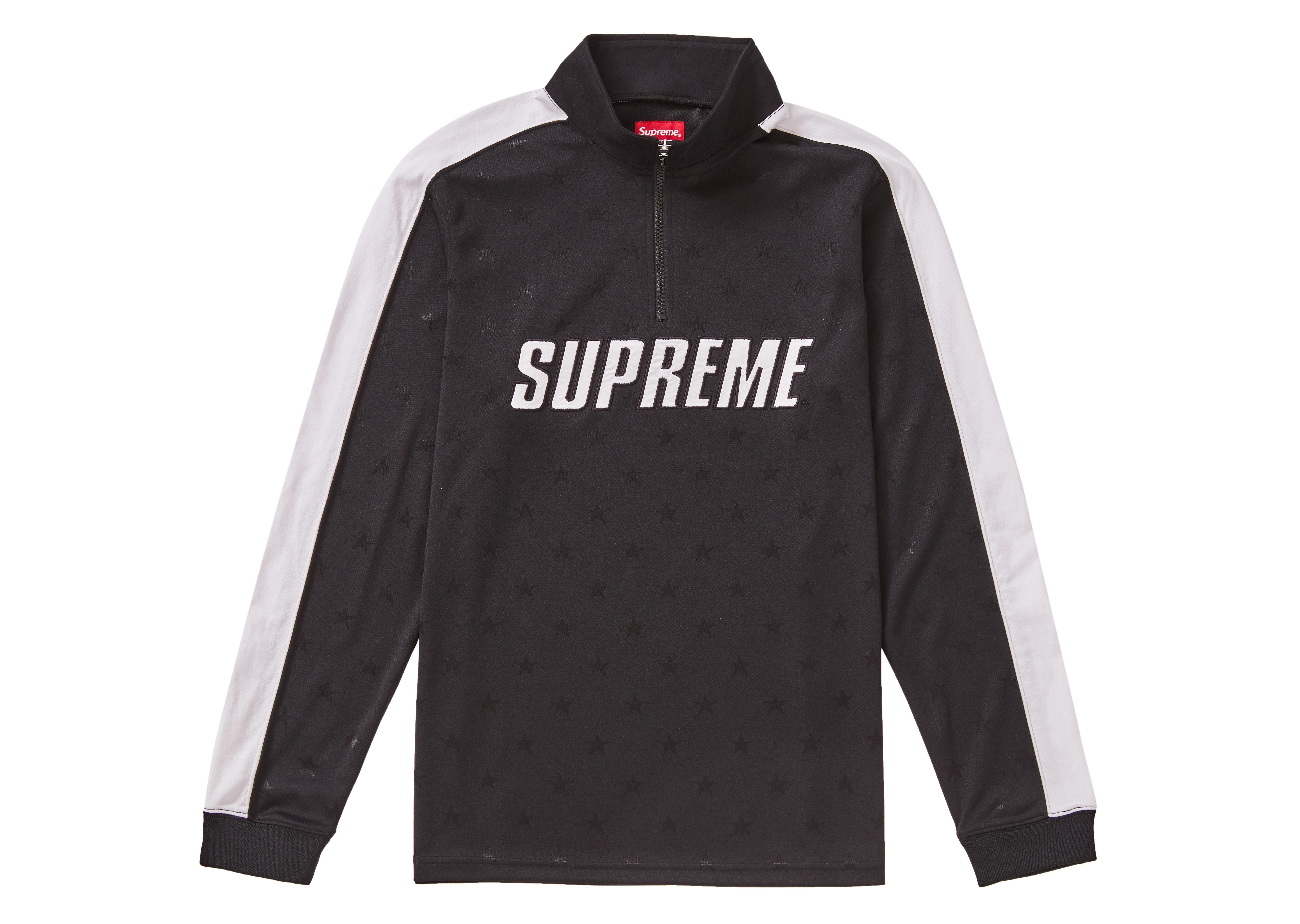 Supreme Track Half Zip Pullover Black