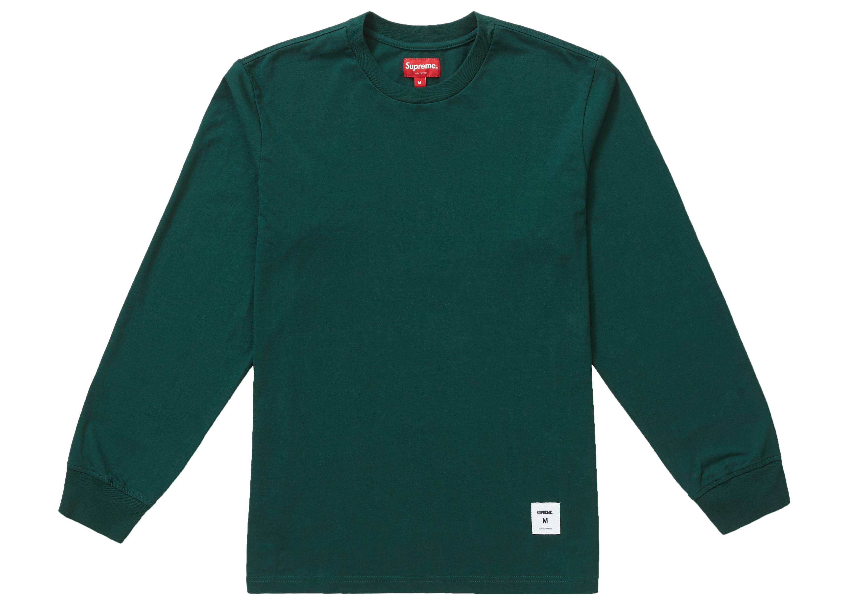Supreme Trademark L/S Top Dark Green