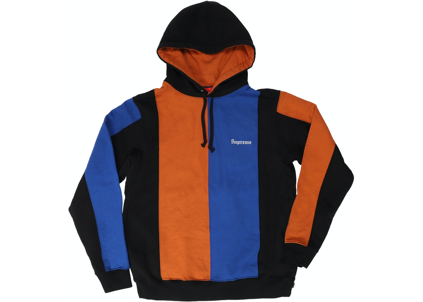 5dc23e94d53 Supreme Tricolor Hooded Sweatshirt Black - FW18