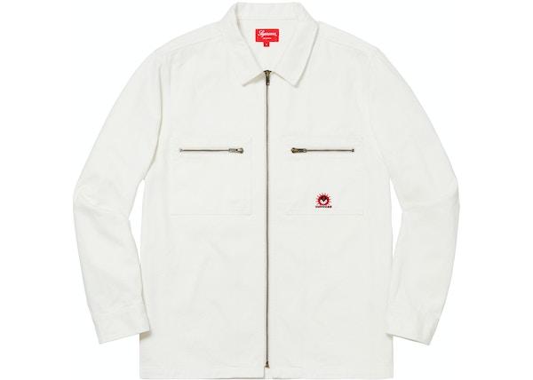 49c8303444 Supreme Vampire Denim Zip Up Shirt OffWhite - FW18
