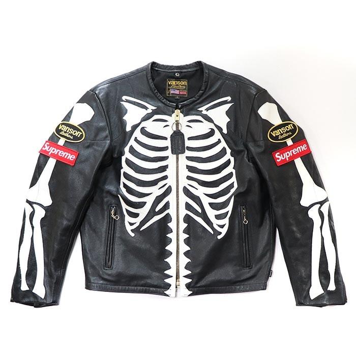 Supreme Vanson Leather Bones Jacket Black