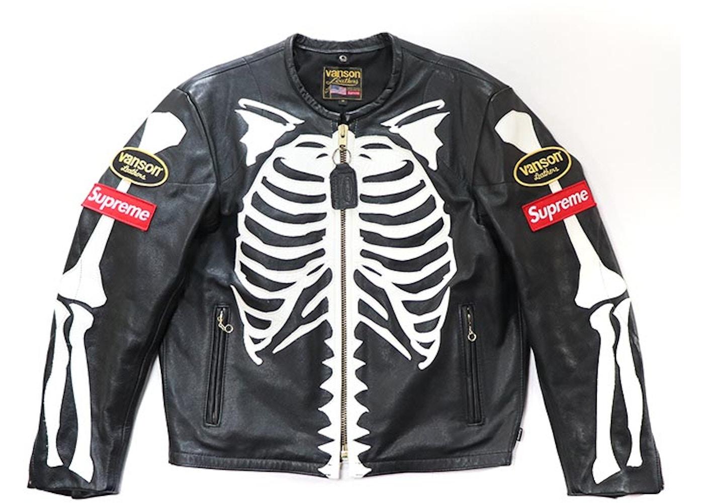 ace5958b6 Supreme Vanson Leather Bones Jacket Black