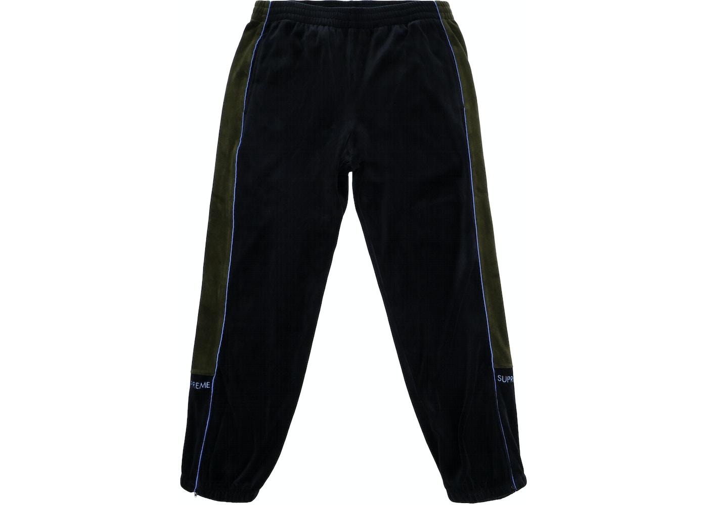 91725dd3743e Supreme Velour Track Pant Black - FW18