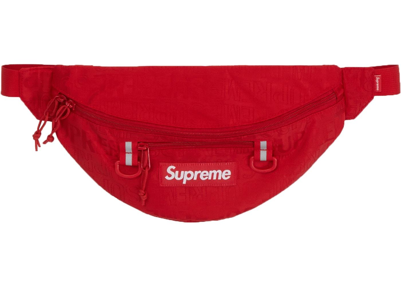 9c5af6ee5e1e Supreme Waist Bag (SS19) Red. Waist