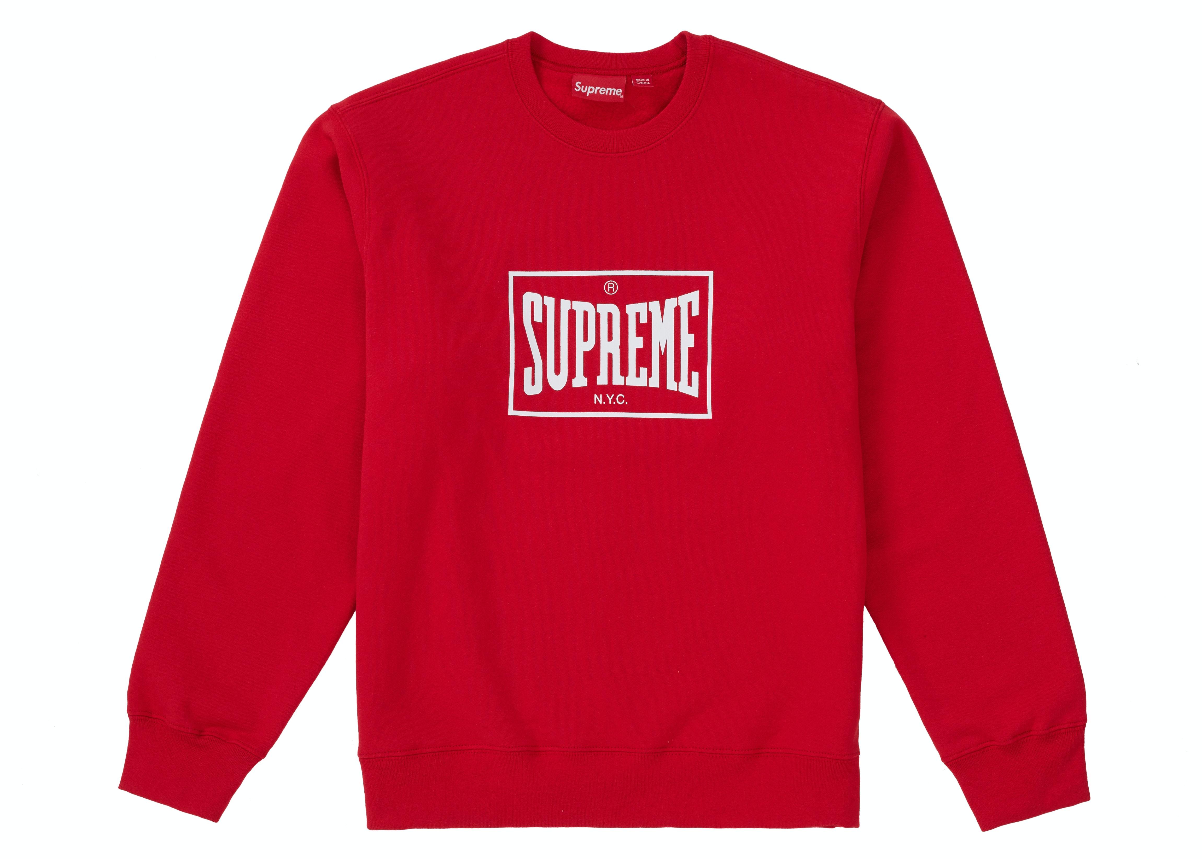 Supreme Warm Up Crewneck Red
