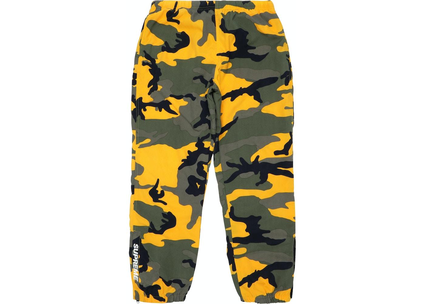 Supreme Warm Up Pant Yellow Camo - FW17