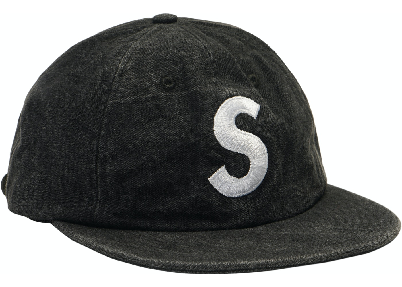 Supreme Washed Chambray S Logo 6-Panel Black - SS18 cf15f09088a