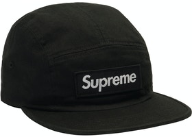 27e04b5c893 Supreme Washed Chino Twill Camp Cap (FW18) Black - FW18