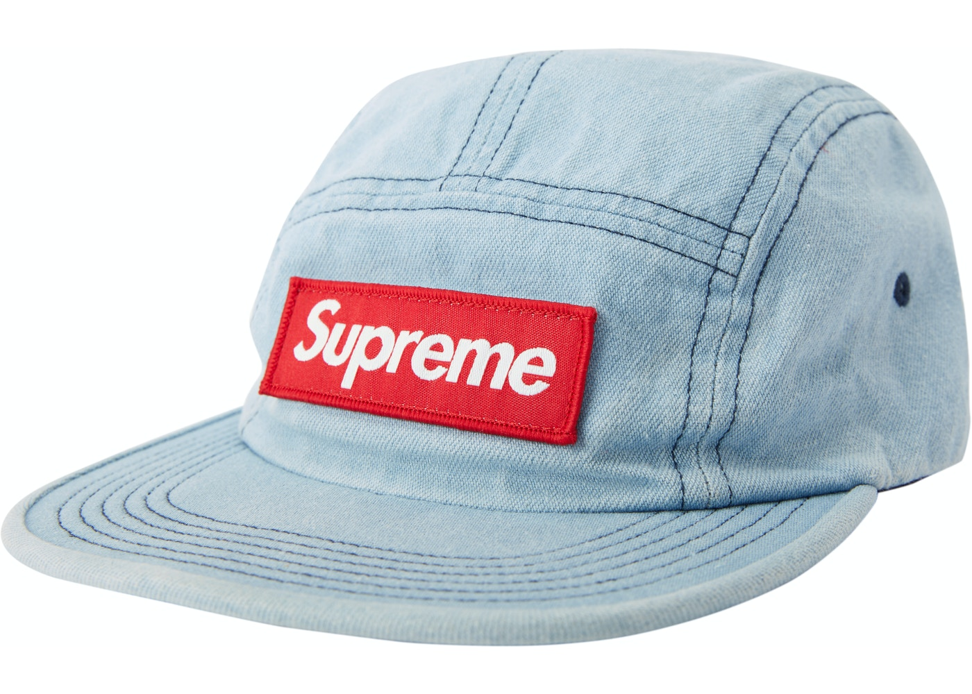 Sell. or Ask. View All Bids. Supreme Washed Chino Twill Camp Cap (FW18)  Denim dc201384149