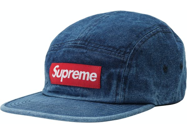 Supreme Washed Chino Twill Camp Cap (SS18) Denim - SS18 5b026622aa1