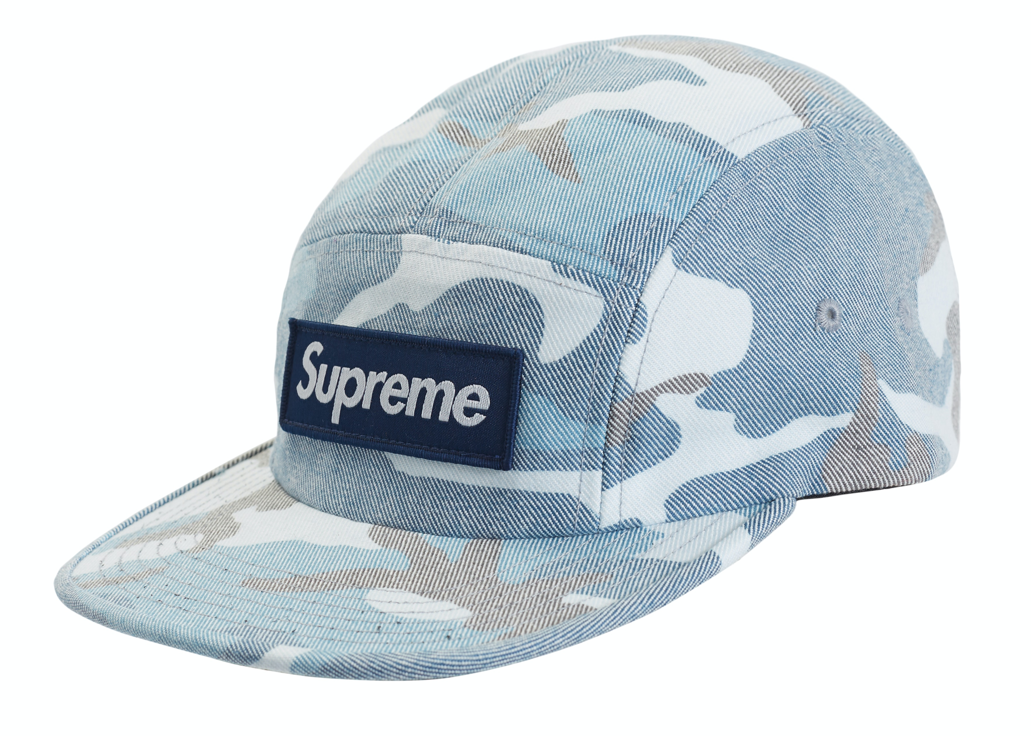 Supreme Washed Out Camo Camp Cap Blue Camo