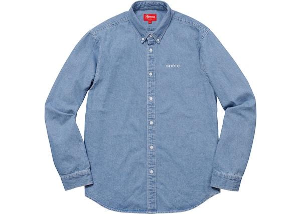 bb952ba8ee67 Supreme Washed Twill Shirt Denim