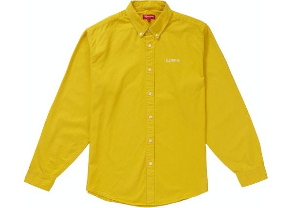 a902cb2445e2 Supreme Washed Twill Shirt Light Mustard