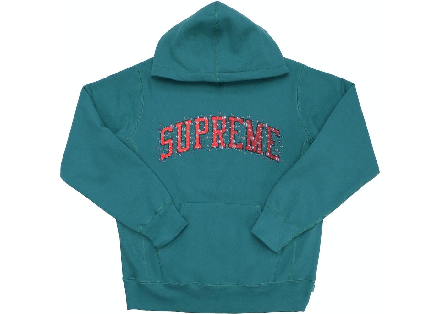 Supreme Water Arc Hooded Sweatshirt Dark Teal - FW18 1669d36046c5