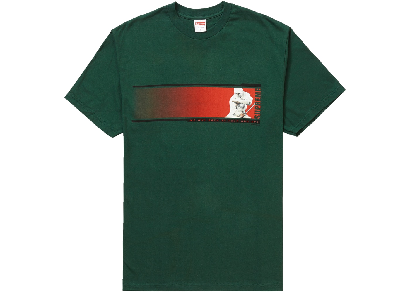 Supreme We're Back Tee Dark Green by Stock X