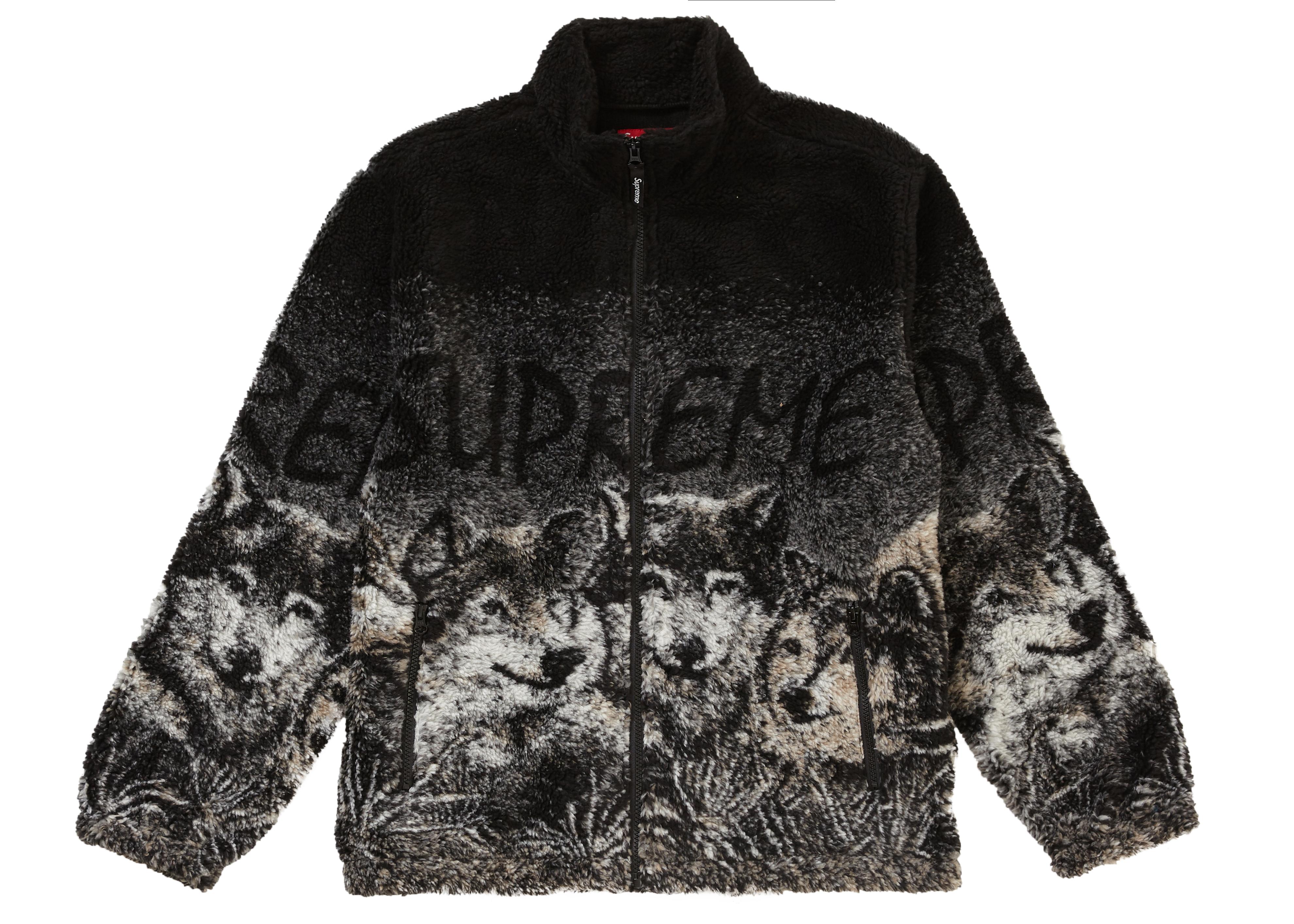 Supreme Wolf Fleece Jacket Black