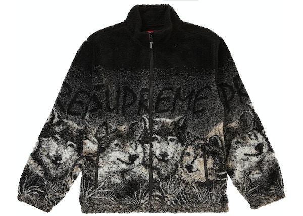 Supreme Wolf Fleece Jacket Black 46fcb44ef